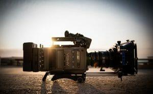 arri amira camera op het strand